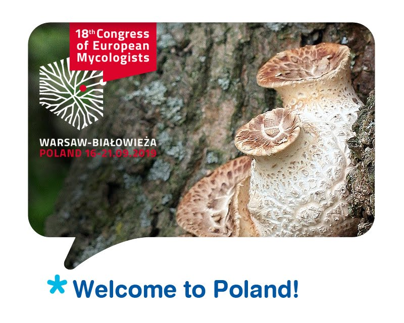 18th Congress of European Mycologists (XVIII CEM), Polskie Towarzystwo Mykologiczne, Polish Mycological Society, projekt logo Aleksander Bąk